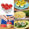 Eggies Egg Cooker Hard Boiled Eggs without the Shell 1-2 Eggies Egg Cups Red