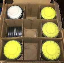 Lot of 80 White Flyer Targets / Pigeons, Yellow & White.