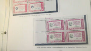 US Discounted Postage Plate Block Collection, 1951 to 1966 MNH Face $74.64