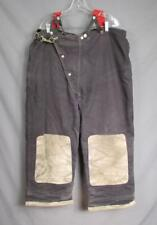 Vintage Globe Mfg. Firefighters Bunker Turnout Gear Pants Suspenders Fireman 40