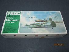 Nib 1969 Frog Model Kit of Bristol Blenheim Mk1 or Mk1F Fighter Bomber Aircraft
