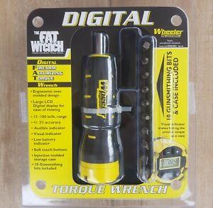 Wheeler DIGITAL FAT Torque Wrench with 10-bit set