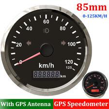 85mm Universal GPS Speedometer Gauge 0-125Km/h Odometer Adjustable w/ Backlight