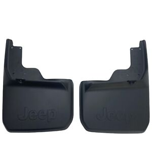 07-18 Jeep Wrangler JK Rear Deluxe Molded Splash Guards Mud Flaps Mopar