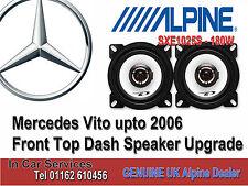 "Alpine Mercedes Vito Front Dash speakers 10cm 4"" car speaker kit 180W Max"