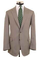 Brooks Brothers Brookscool Poplin Green Cotton 2pc Suit Jacket Pants 42 L - 36W