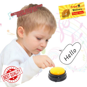 RECORDABLE TALKING VOICE RECORDING SOUND BUTTON FOR KIDS INTERACTIVE