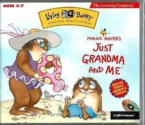 Living Books Mercer Mayer's Just Grandma and Me PC New XP Animated Story