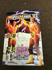 WWF WWE Wrestlemania 6 VI Promo Poster Skydome Ultimate Warrior Hulk Hogan 12x18