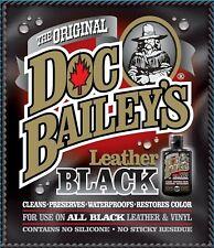 DOC BAILEY'S LEATHER BLACK Detail KIT 4 OZ BLACK RE-Dye CLEANS OILS WATERPROOFS