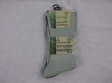 Mens Non Elastic Super Soft Ribbed Anti Bacterial Bamboo Odour Resistant Socks Black 6 Pairs