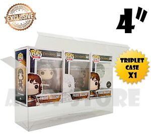 """ATV Protector / Case for 4"""" Funko Pop Triplet (holds three boxed funko pops) x 1"""