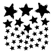 The Crafter's Workshop Stencil Mini Star Fall 6x6 Dina Wakley stars background