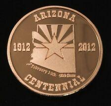 Arizona Centennial copper token