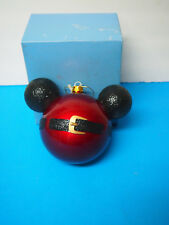 Walt Disney Parks Authentic jumbo Mickey Christmas ball ornament EARS red