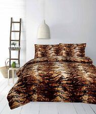 Tiger Micromink Reversible Quilt Doona Cover Set - Double Queen King