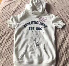 Aeropostale Girls Hoodie Sweatshirt Sz 5 Off White Pullover Shortsleeve