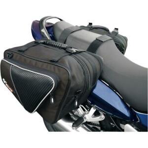Paire de sacoches cavalières en textile Gears modèle Sport Tour pour moto Neuf