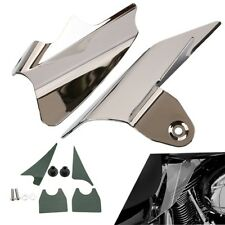 Reflective Chrome Saddle Shield Air Heat Deflector For Harley Road King Glide