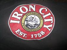 Long Sleeve Black Classic Iron City Beer Logo T Shirt Large Pittsburgh Pa