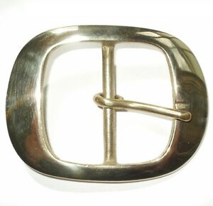 """2"""" INCH 5CM SOLID CAST BRASS BELT STRAP OVAL FULL BUCKLE"""