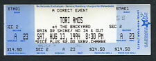 Original 1994 Tori Amos Unused Full Concert Ticket Bee Cave TX Under The Pink
