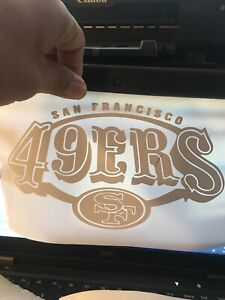 san francisco 49ers Window Decal White 5 Tall 8 Wide