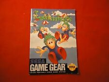 Lemmings Sega Game Gear Instruction Manual Booklet ONLY
