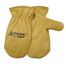 Kinco  Axeman  Men's  Outdoor  Cowhide Leather  Work Gloves  Mittens  Gold  M