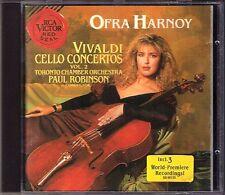 Ofra HARNOY: VIVALDI Cello Concertos Vol.2 PAUL ROBINSON CD Toronto Chamber Orch