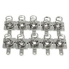 10 Pairs Silver Metal Battery Spring Plate Set for AA AAA Batteries 14.5mm*9mm