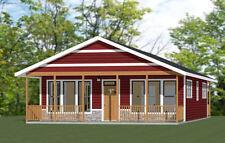28x36 House -- 2 Bedroom 2 Bath -- 1,008 sq ft -- PDF Floor Plan -- Model 1N