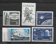 CANADA , 1960's , LOT OF 5 STAMPS , MNH