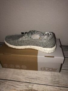 Hey Dude Woven Women's Shoes Linen Iron Ligthweight Slip-On Casual Size 8