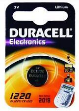 2 X Duracell Cr1220 Lithium Button Coin Cell Batteries 3 Volt
