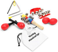 Kenley Set of 10 Music Instruments for Kids Baby Children Play Band Musical Toys