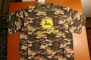 NWT John Deere Camo Tee Shirt L 14/16