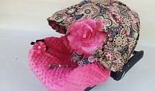 baby car seat cover canopy cotton set most car seat flowers Vera Bradley print G