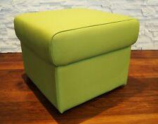 Grau Echt Leder Hocker Sitzhocker Fußhocker 40x40xH40cm Echtleder Sitzwürfel