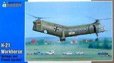 SPECIAL Hobby 1/48 H-21 cavallo di battaglia tedesco e francese Servizio # 48088