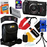 Olympus Tough TG-5 Waterproof Wi-Fi Digital Camera (Black) + Battery + 32GB Kit