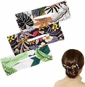 Hot Deft Bun Hair Bands Women Summer Knotted Wire Lady Headband Print Hair Tools