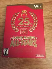 WII 25TH ANNIVERSARY LIMITED EDITION SUPER MARIO ALL STARS NINTENDO WORKS WII U