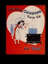Vintage c1930's Valentine's Day Greeting Card, Satin Finish