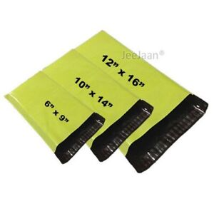 Strong Neon Green Mailing Bags Coloured Plastic Postage Poly Postal Self Seal