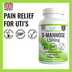 D MANNOSE Urinary Tract Infection UTI Bladder Support Cystitis Dmannose Capsules