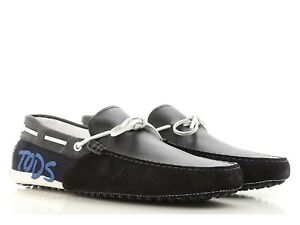 Tod's men's gommino driving moccasins in black suede leather Size US 11 - EU 44