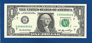 2006 CH/CU $1 FANCY BINARY  RADAR NOTE SERIAL #F04044040C