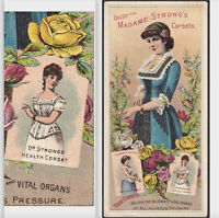 Dr Strongs Victorian Health Corset 1800's New York Madame Advertising Trade Card