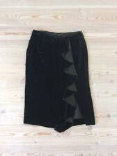 $300+ RALPH LAUREN BLACK LABEL Velvet Pencil Skirt Size US 2